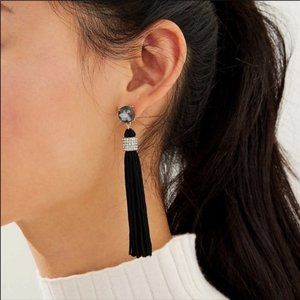 LOFT Women's NWT Crystal Wrapped Tassel Earrings